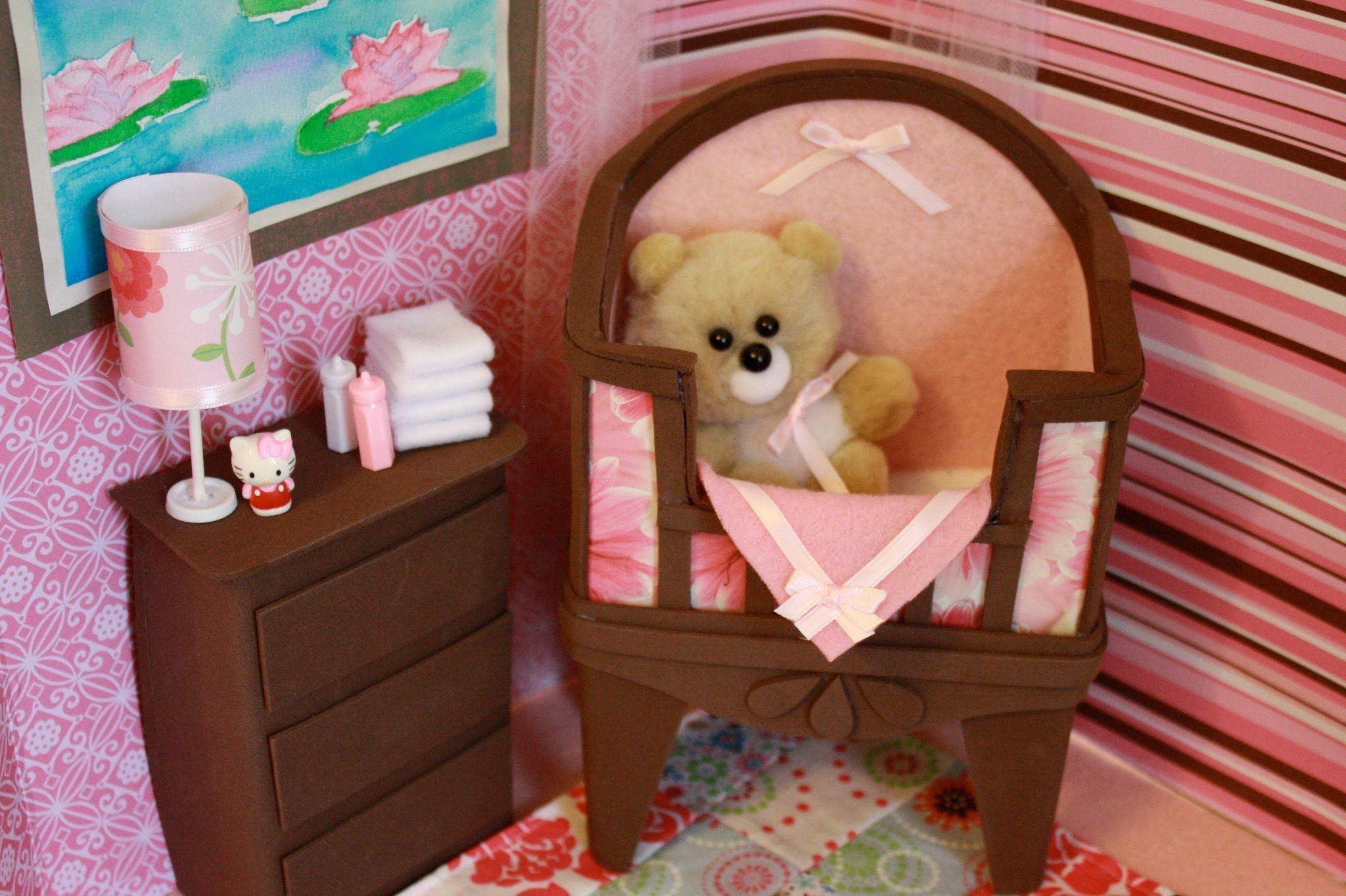 making doll furniture. How To Make A Doll Baby Crib With Bonus Easter Project - Crafts Making Furniture