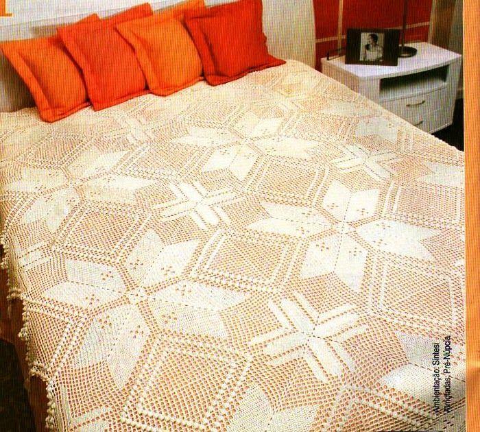 Solo esquemas y diseños de crochet: CUBRECAMA 4 | crubrecamas ...