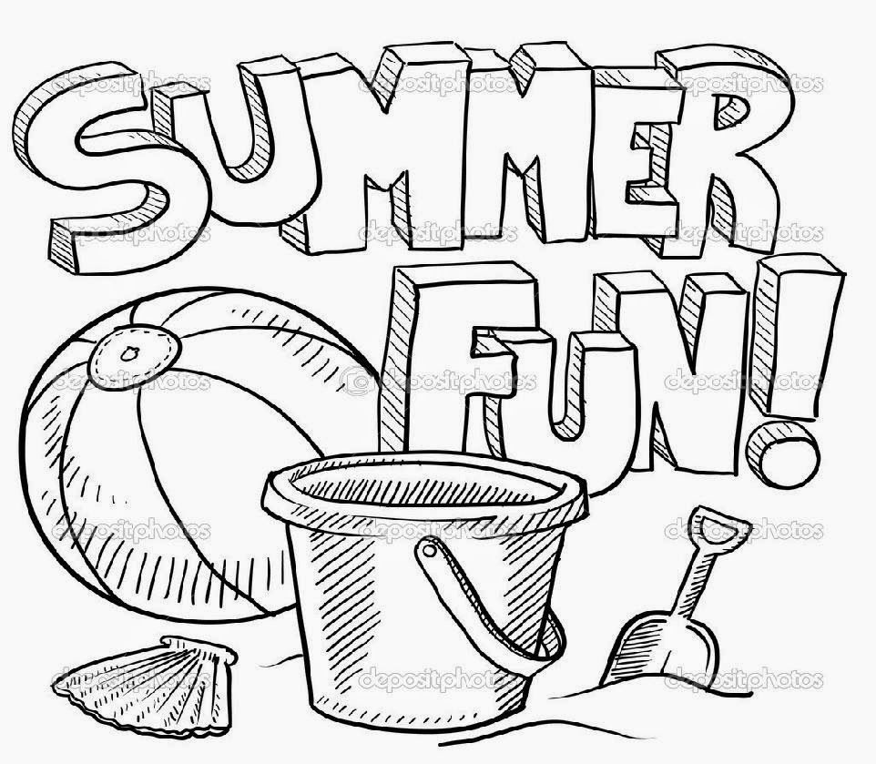 printable beach coloring page free printable summer - Summer Coloring Page