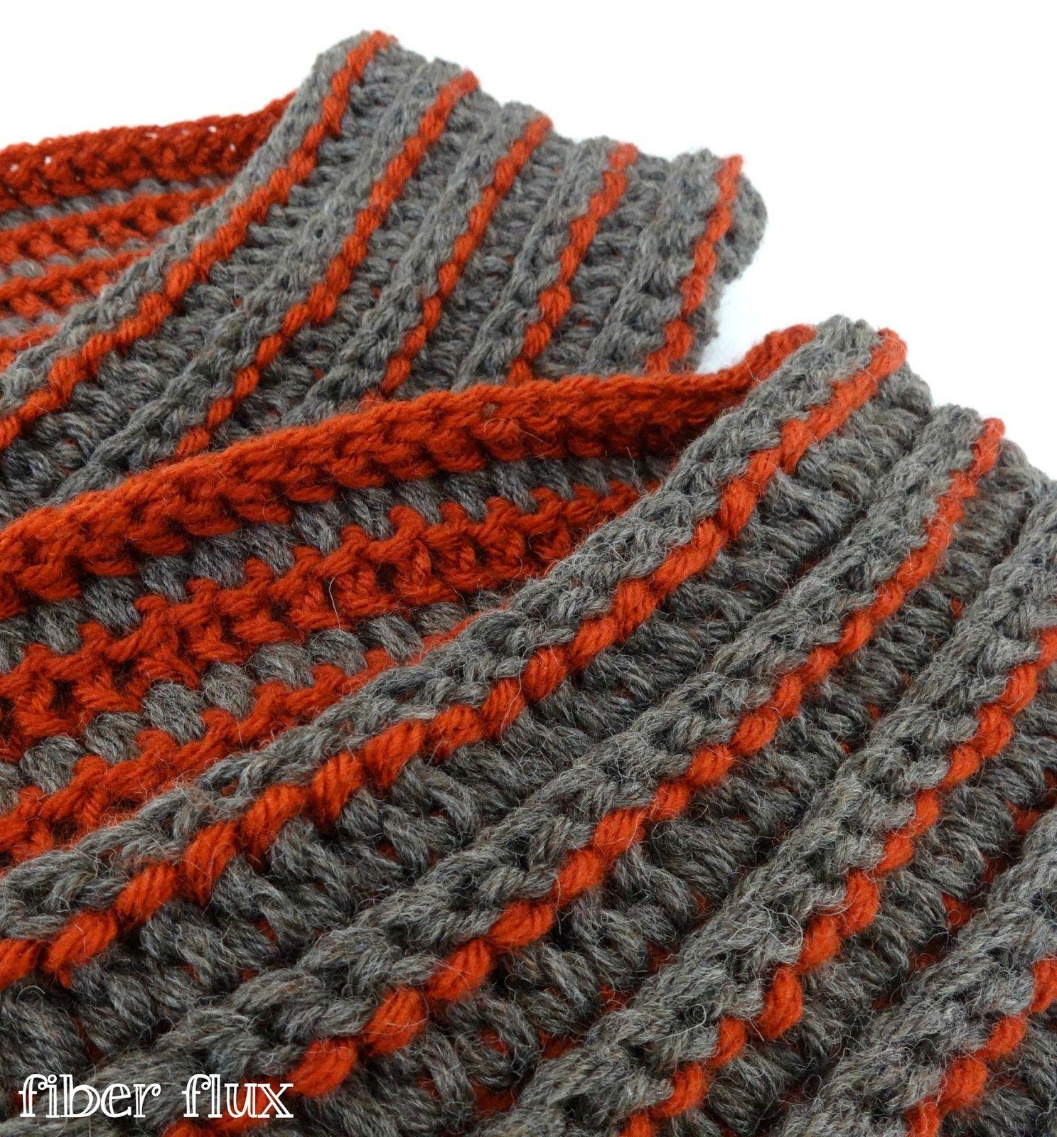 La fibra Flux: libre del patrón de ganchillo ... La Bufanda cada ...