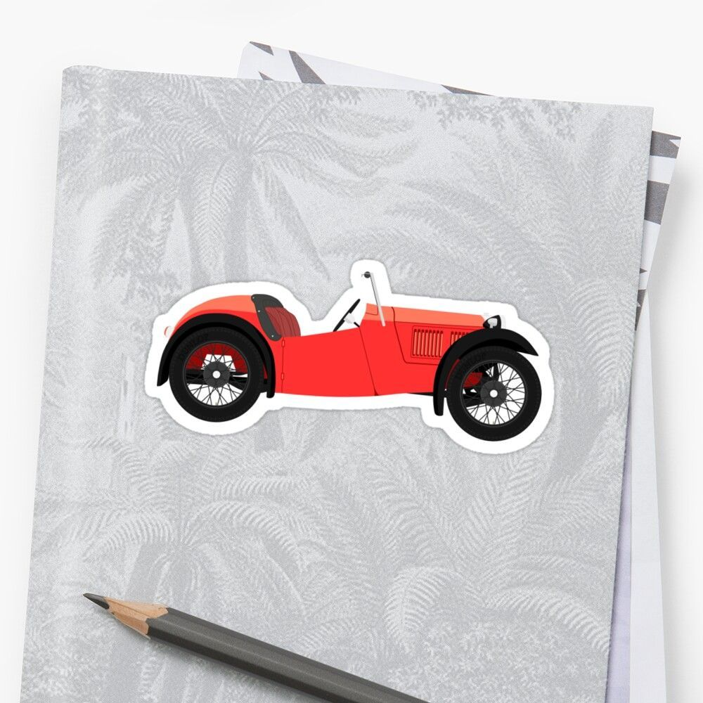 'Austin 7 Nippy Sports Classic Car (Red)' Sticker by JHMimaging