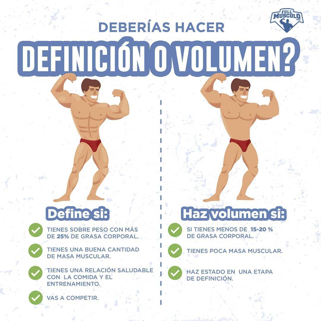 como obtener definicion muscular