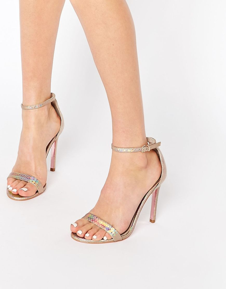 Sandals heels, Gold high heel sandals