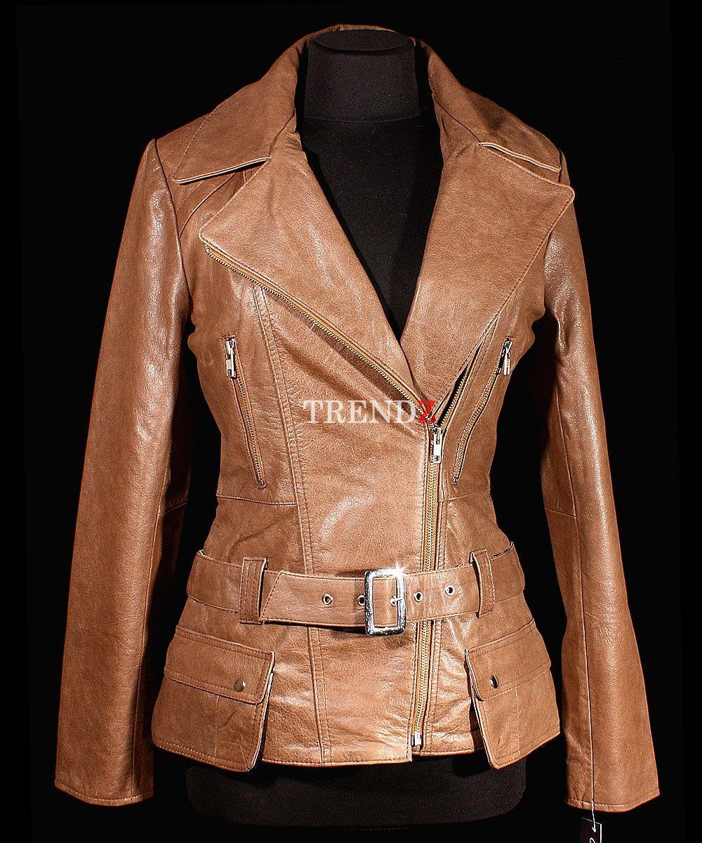 Diaz Vintage Brown Ladies Women's Stylish Retro Real Cow Hide Leather Jacket | eBay