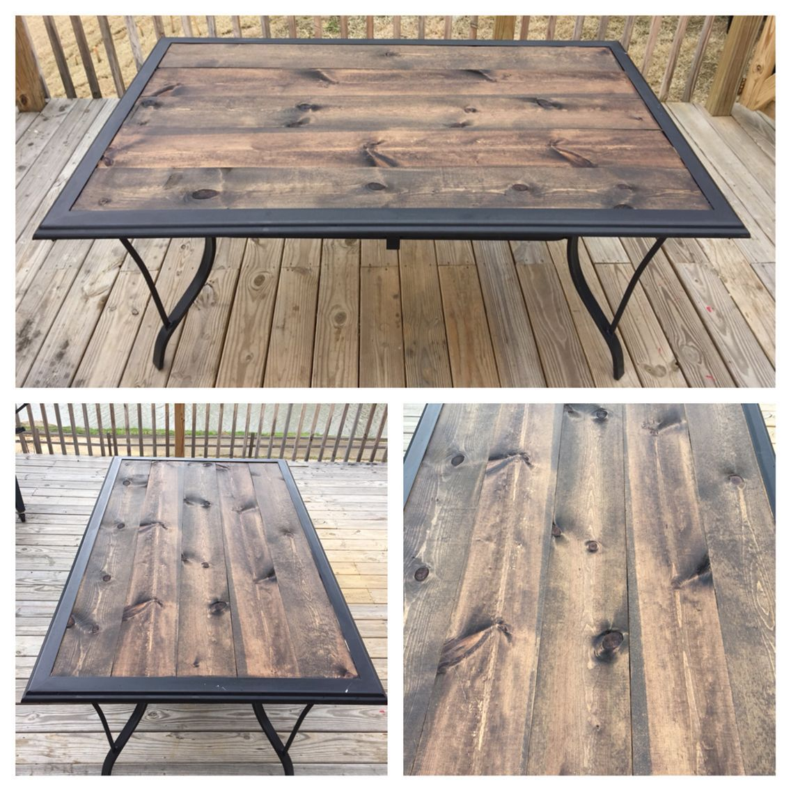 Rustic Pine Toung And Groove Interior Design: Repurposed Patio Table Turned Rustic After Glass Top