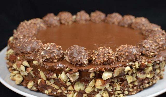 Besten Kuchen: Rezept! Ferrero Rocher Torte