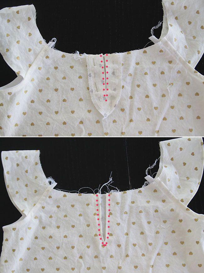 gold-pleated-flutter-sleeve-dress-free-pattern8.jpg 650×867 pixeles ...