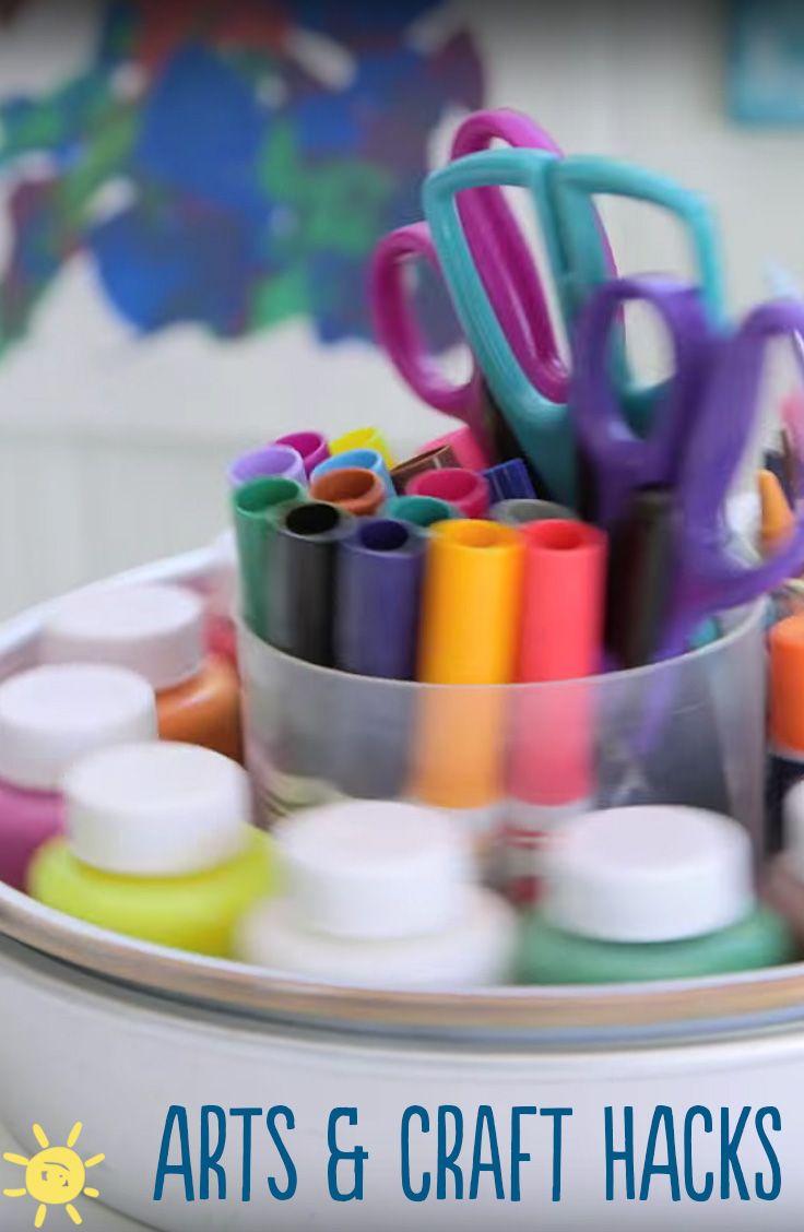 MOM HACKS: Arts & Crafts   Whats up moms, Mom hacks, Arts