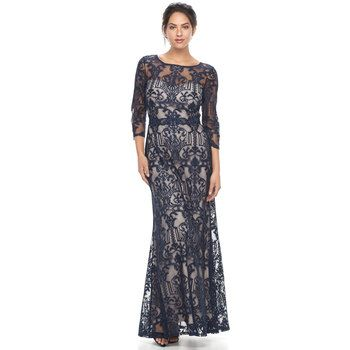 Women's Chaya Floral Lace Evening Gown