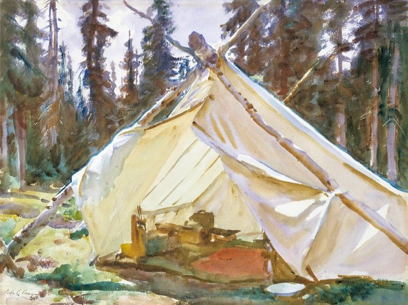 A Tent in the Rockies 1916 John Singer Sargent American 1856- & A Tent in the Rockies 1916 John Singer Sargent American 1856 ...