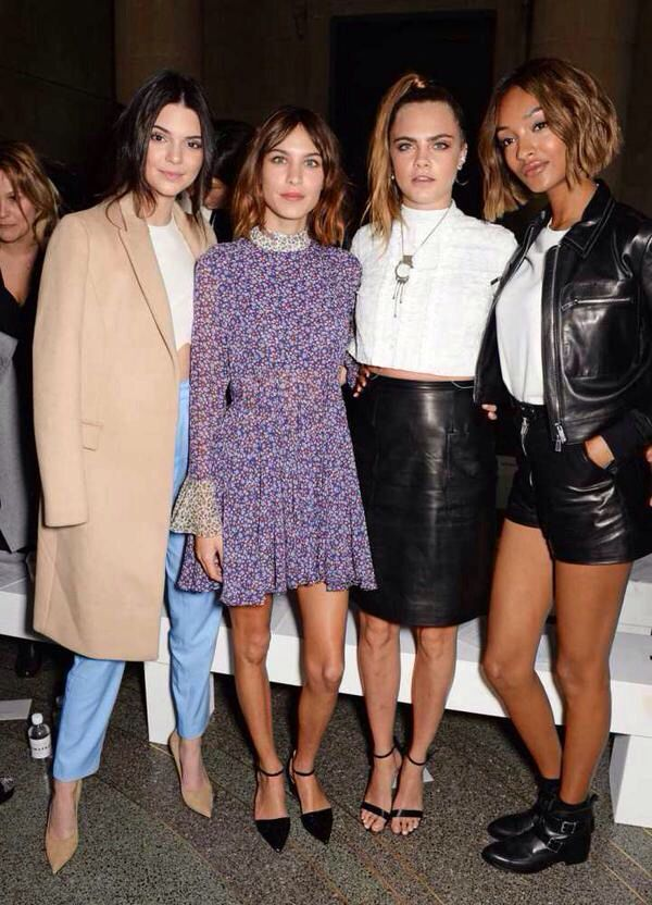 """Elle UK: """"Best front row ever? See who attended the Topshop Unique show this afternoon: http://on.elleuk.com/1Ejt62d"""""""