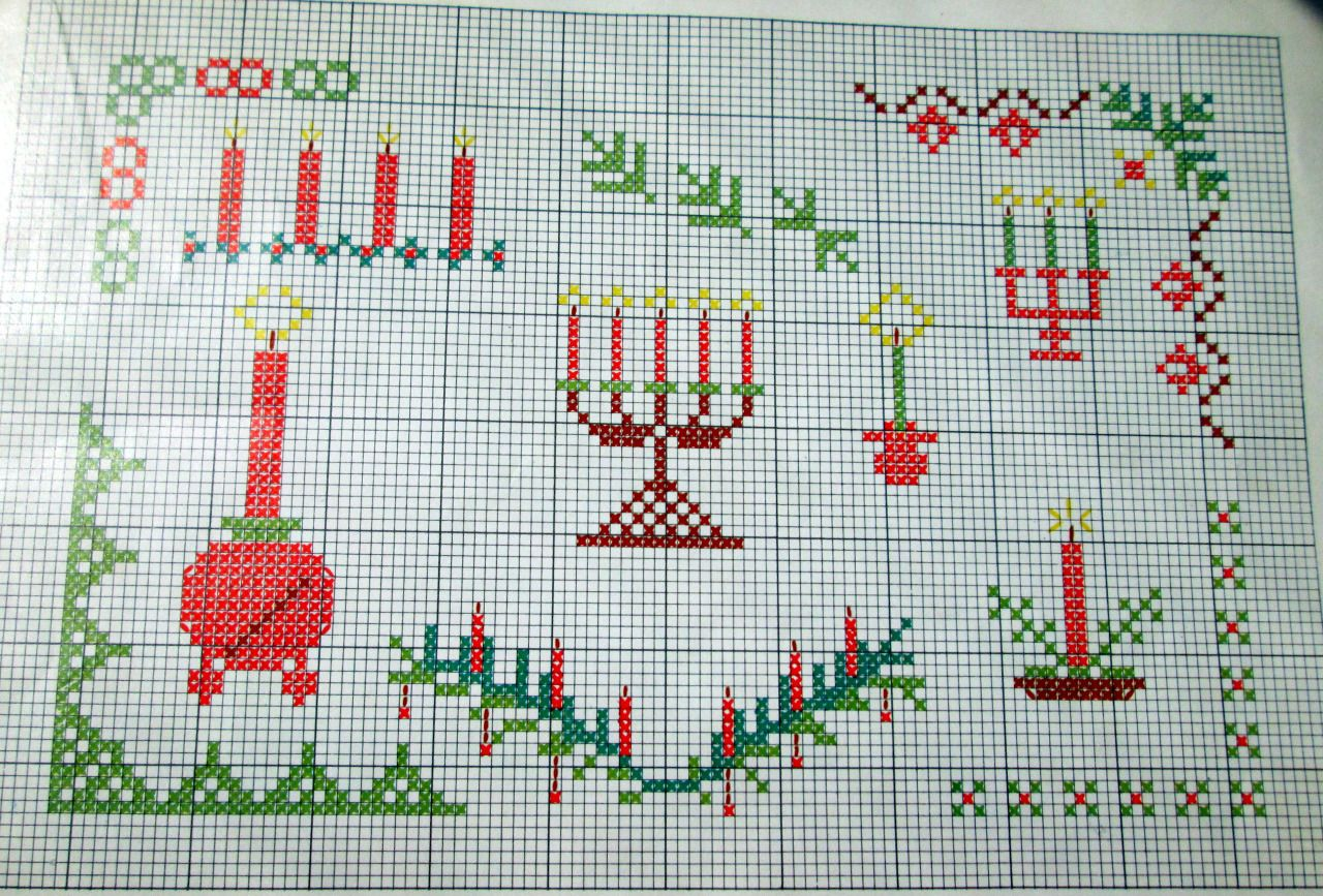 Fernweh a·fi·ci·o·na·do: Patterns from Oma's old Christmas cross stich...