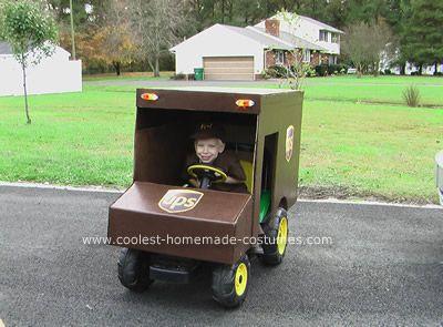 Diy Ups Truck Halloween Costumes For Kids Wagon Halloween