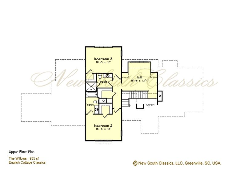 New South Classics The Willows New Storybook Homes Floor Plans House Plans