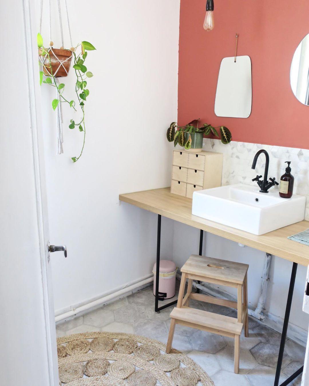 Terracotta : une salle de bain chaleureuse et naturelle  Idée
