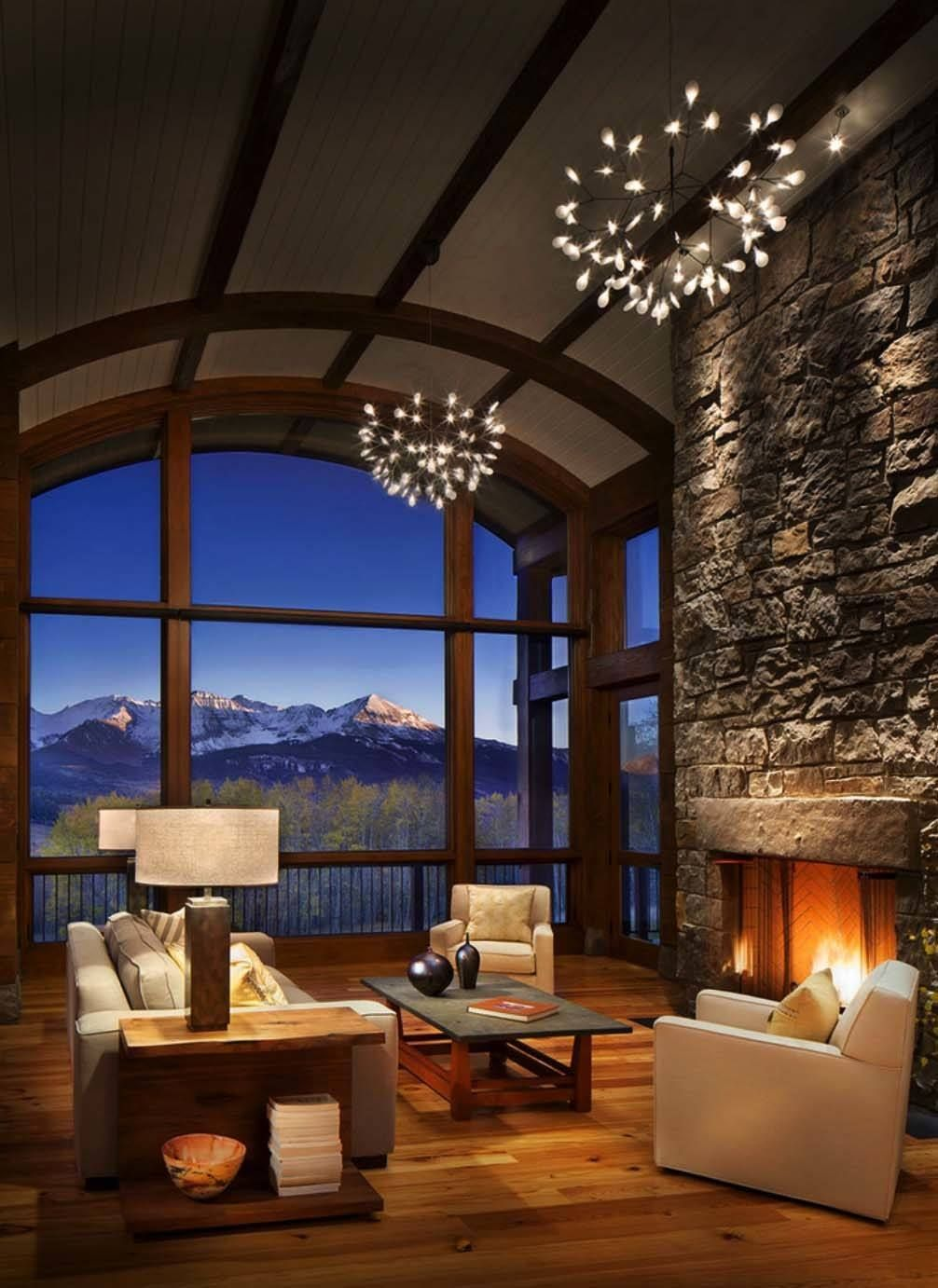 Fabulous Mountain Cabin In Colorado Captures Views Of Mount Wilson Cabin Room Design Rustic Living Room Design Rustic House