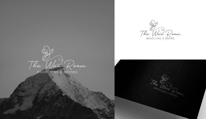 Modern line art text or badge logo design