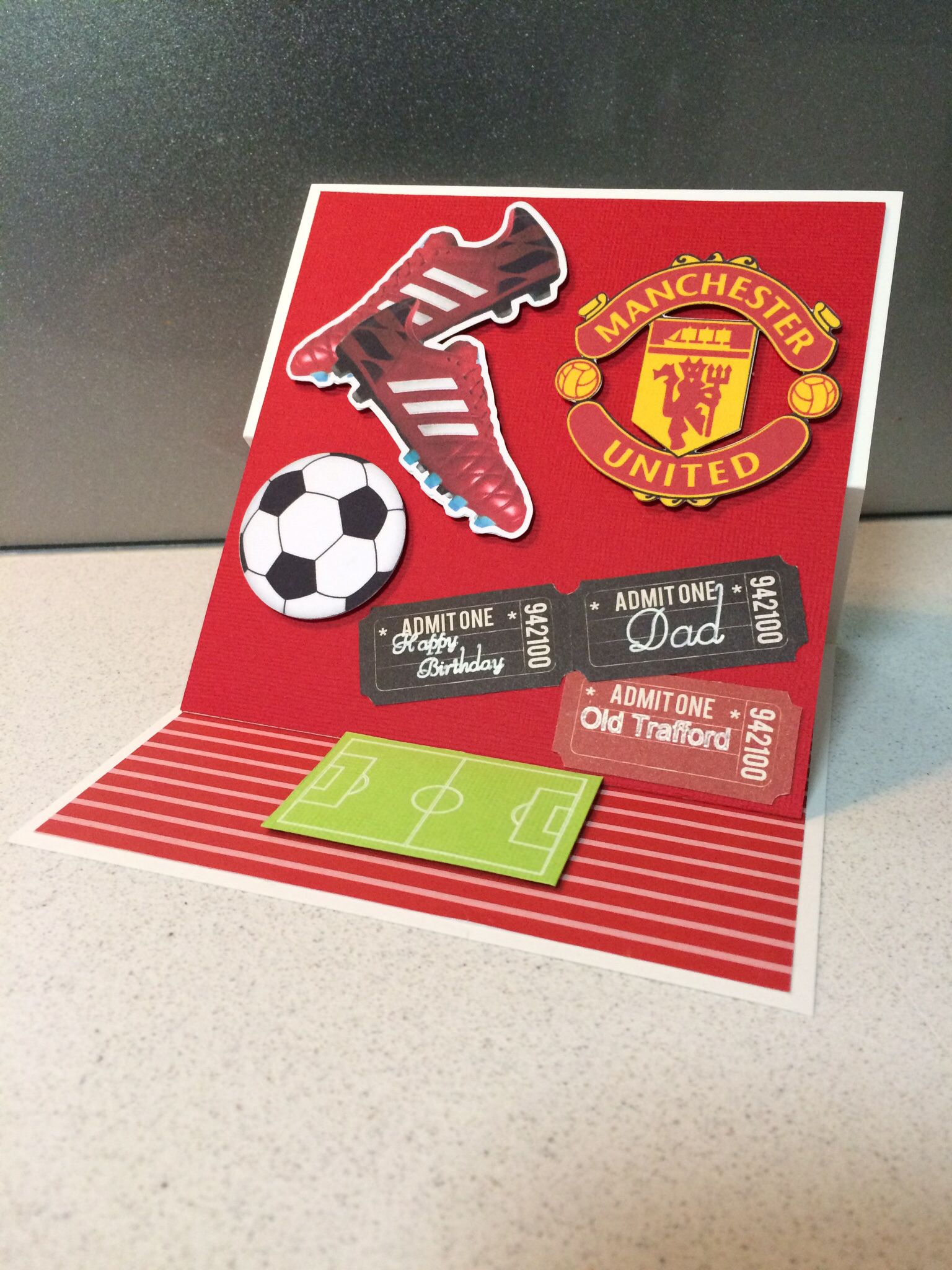 Soccer Card Manchester United Dad Birthday Card Happy Birthday Cards Birthday Cards