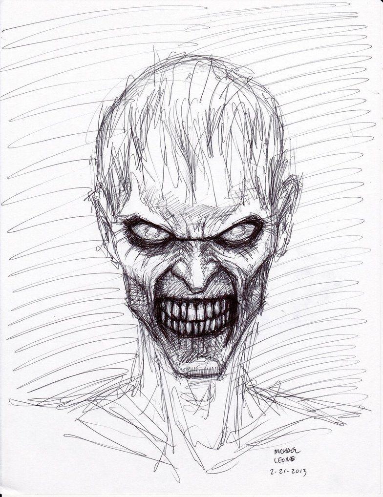 Картинки зомби в карандаше
