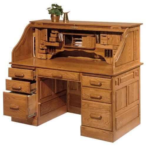 Solid Wood Roll Top Desk By Haugen Furniture By Haugen Furniture 4375 00 Lifetime Warranty Roll Top Desks Haugen Furniture Dou Roll Top Desk Furniture Desk
