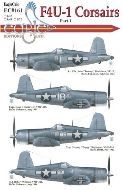 EagleCals Decals Item No. EC#161-32 - F4U-1 Corsair Part 1 Review by Alan Sannazzaro