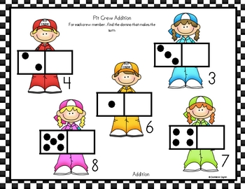 This packet includes 30 pages of addition and subtraction.  Each one gets a little harder.  The children will be able to make their own combination...