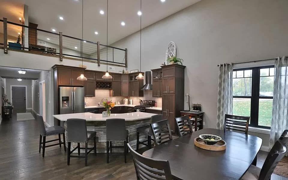 Barndominium With Loft And Shop Area House Plan With Loft Loft Floor Plans Barn Homes Floor Plans