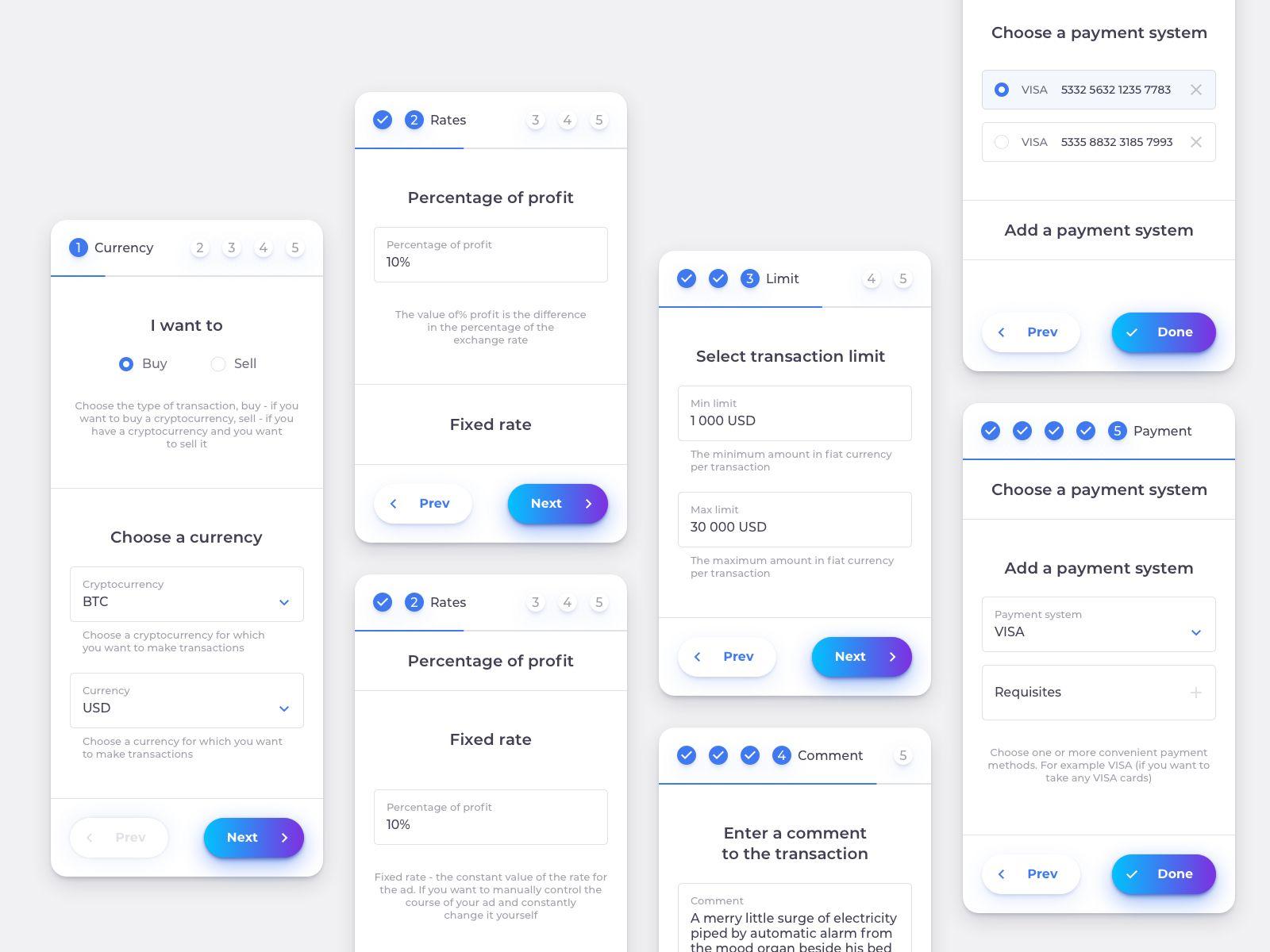 Mobile Exchange Step Form Ux Design Mobile Mobile Web Design Web App Design