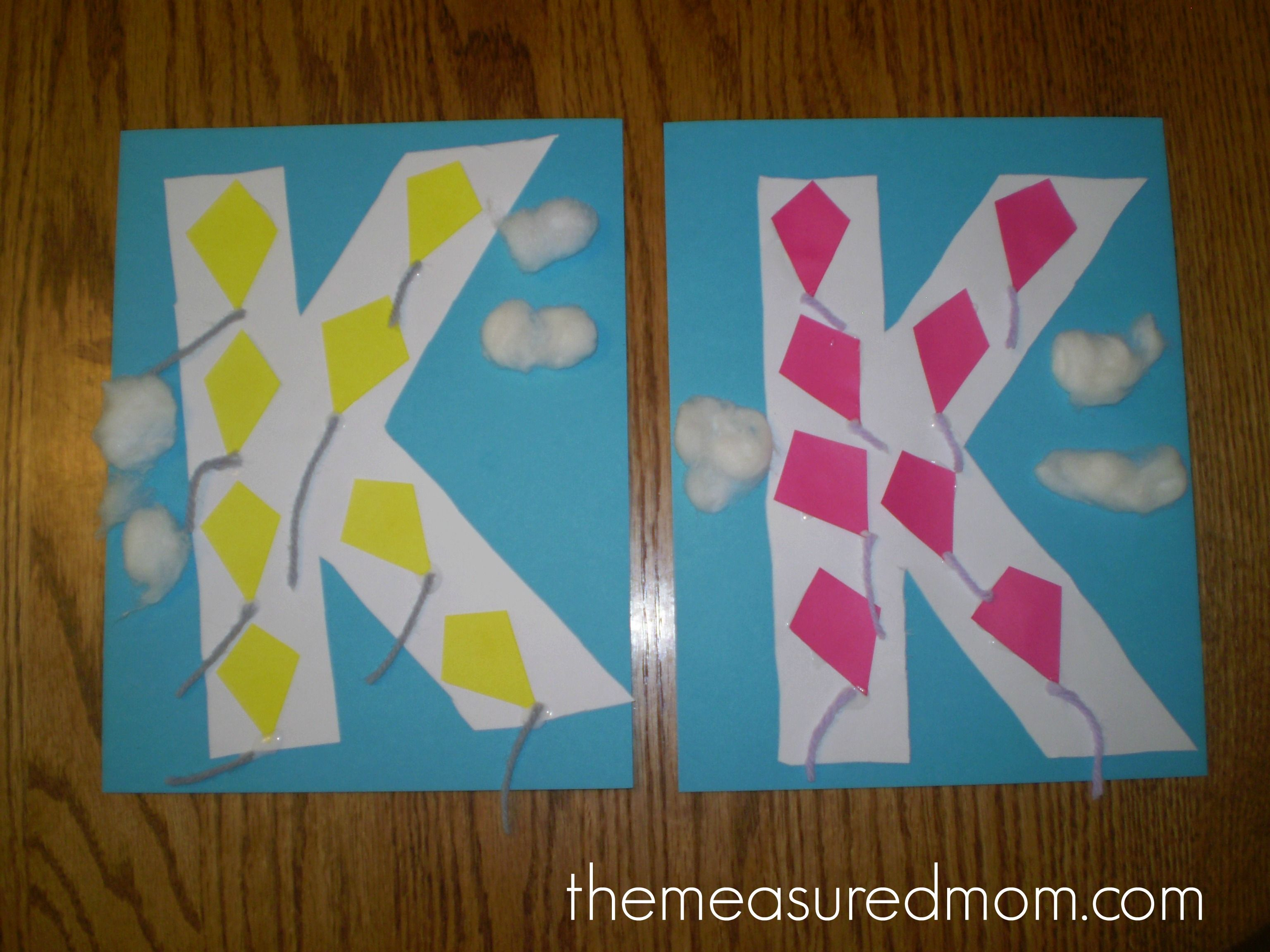 Letter K Crafts for Preschoolers