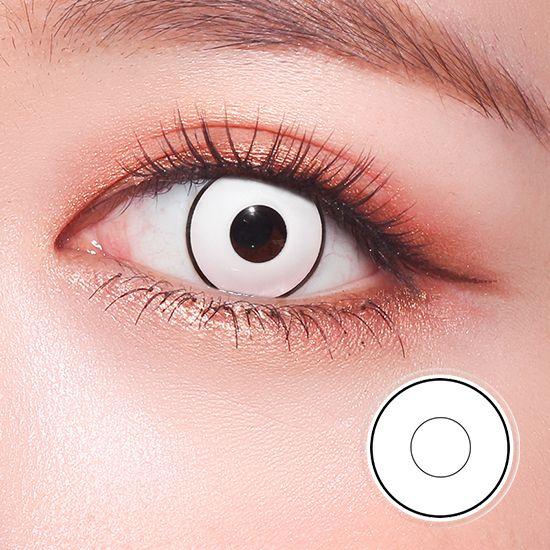 White Manson Crazy Lens Colored Contact Lenses Halloween Contact Lenses Colored Cosplay Contacts