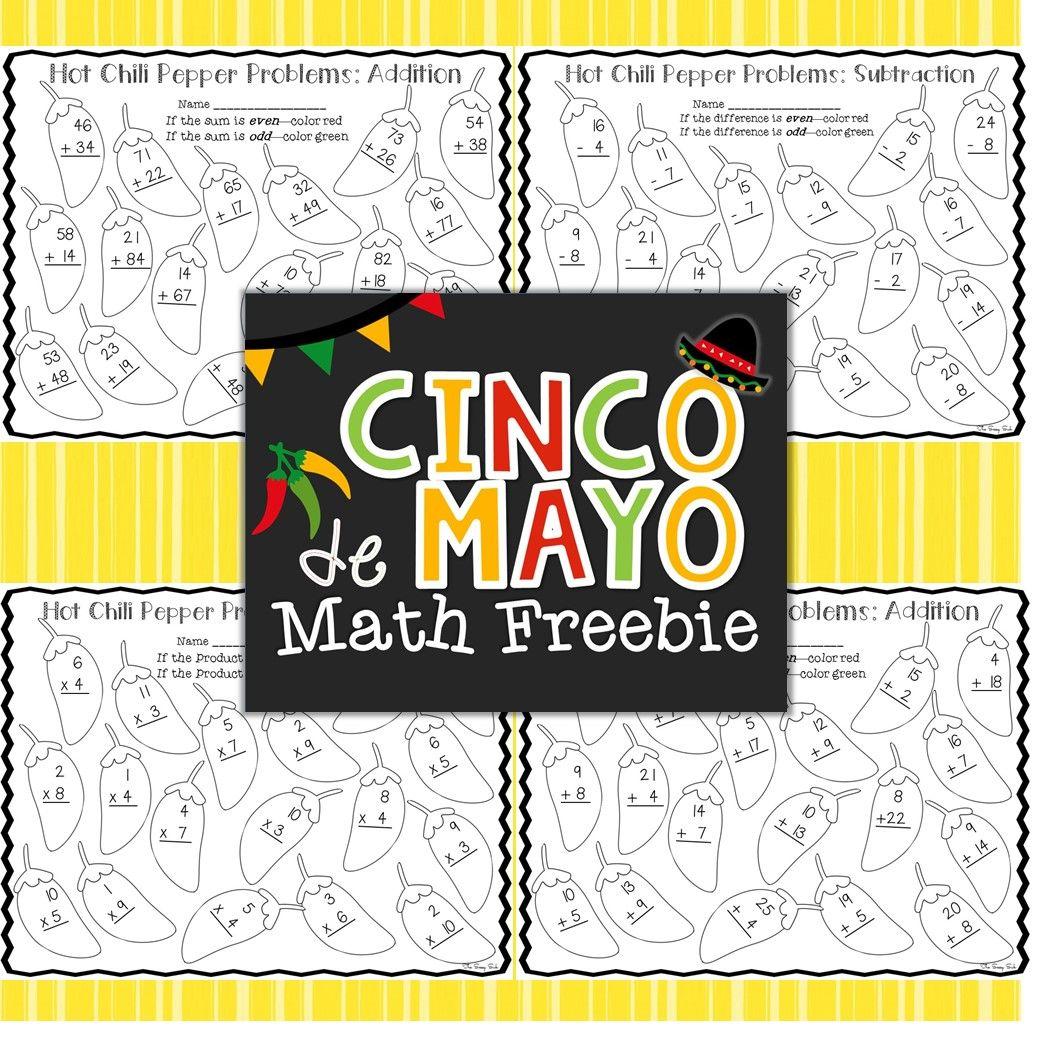 Cinco De Mayo Math Freebie Includes Addition