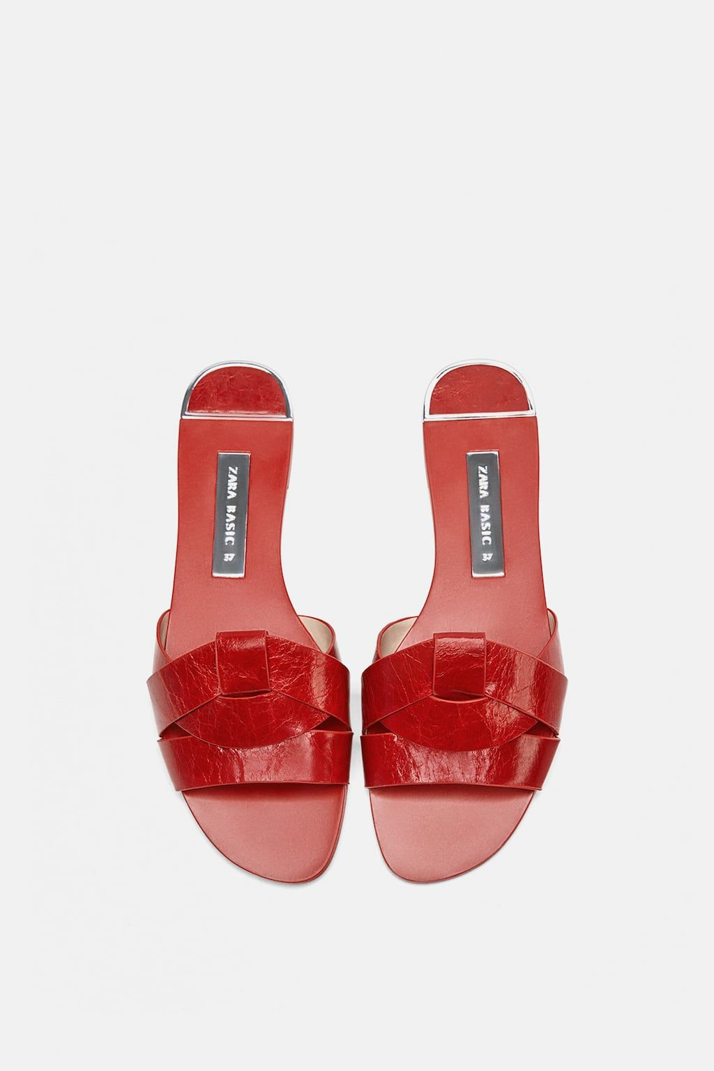 ef6c70d88 Image 2 of LEATHER CROSSOVER SANDALS from Zara Pala, Crossover, Malaysia, Women's  Shoes