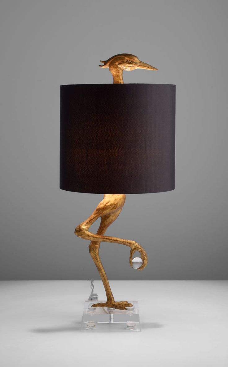 Gold ibis table lamp x6138 lampsplus httpcentophobe a golden bird shaped base anchors this transitional table lamp with his head peering from the top of its black satin shade bird shape table lamp with gold geotapseo Choice Image