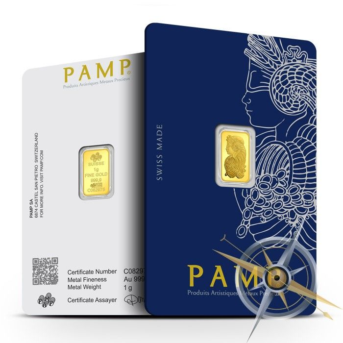 1 Gram Gold Fortuna Veriscan Bar Pamp Suisse Gold Bar Silver Bars Fortuna