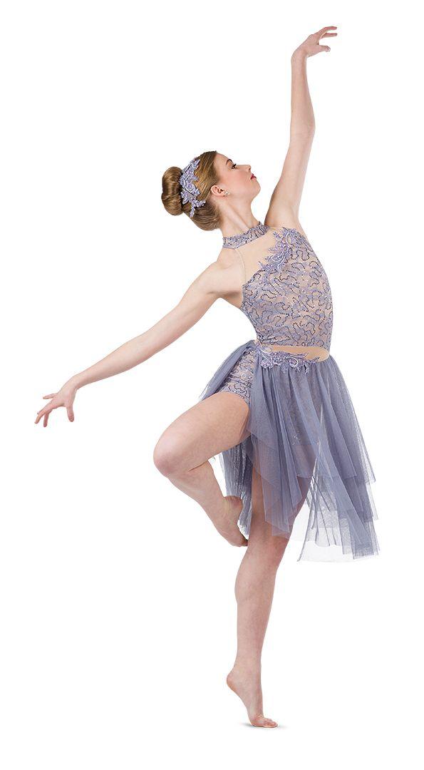 NEW DANCE Lyrical Dress Skate Skating Slit Georgette Skirt White Bodywrappers