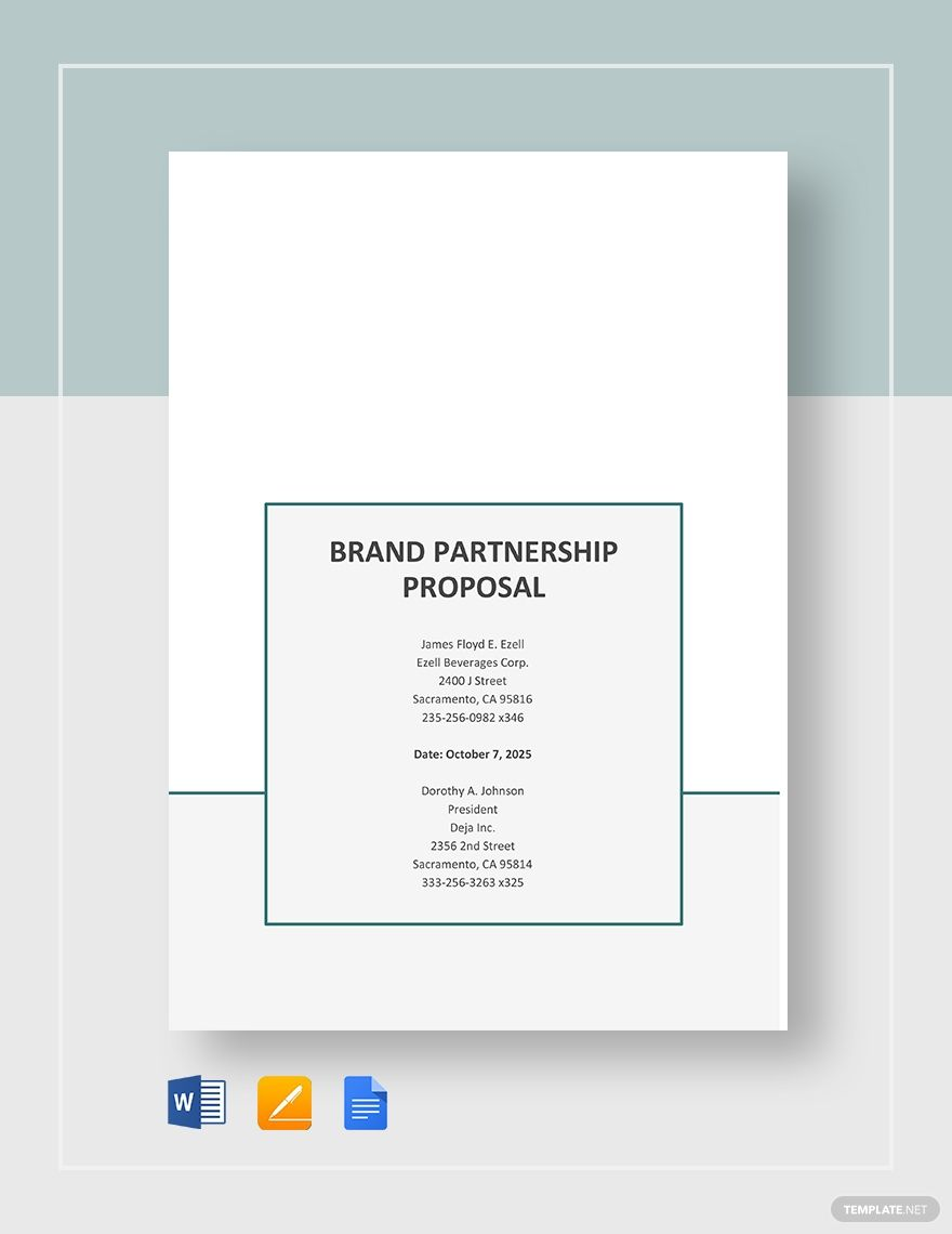 Brand Partnership Proposal Template Free Pdf Word Doc Apple Mac Pages Google Docs Proposal Templates Brand Partnership Proposal Letter