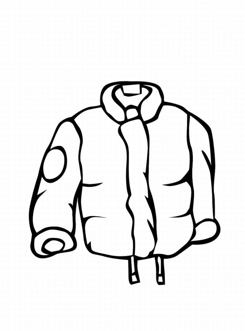 Jacket Mens Raincoat Coloring Pages Winter Colors