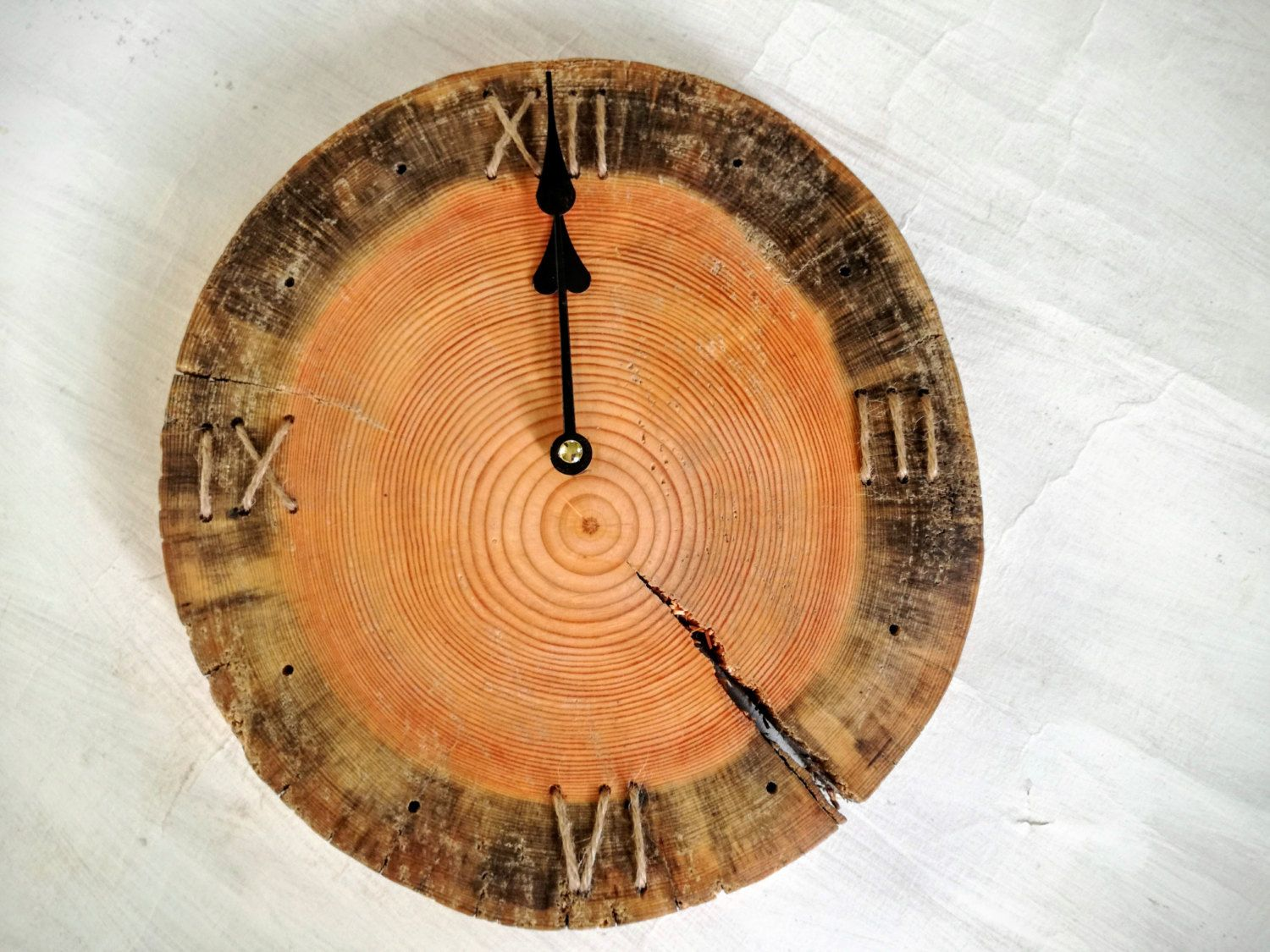 Wall clock in natural wood modern rustic clock barn wood wall wall clock in natural wood modern rustic clock barn wood wall clock wood slice amipublicfo Image collections
