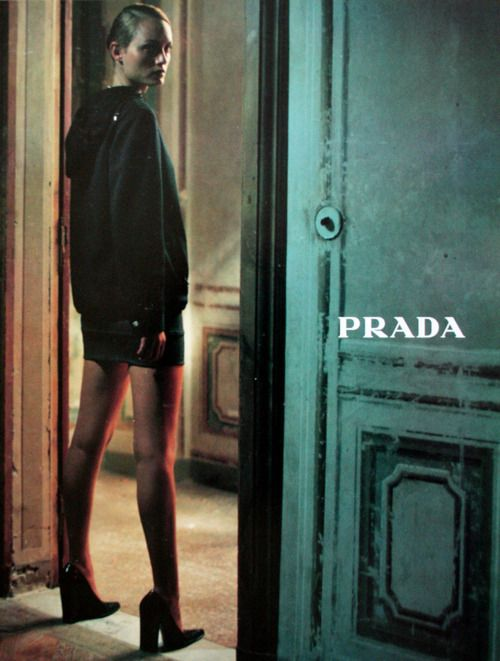 Amber Valletta photographed by Glen Luchord for Prada