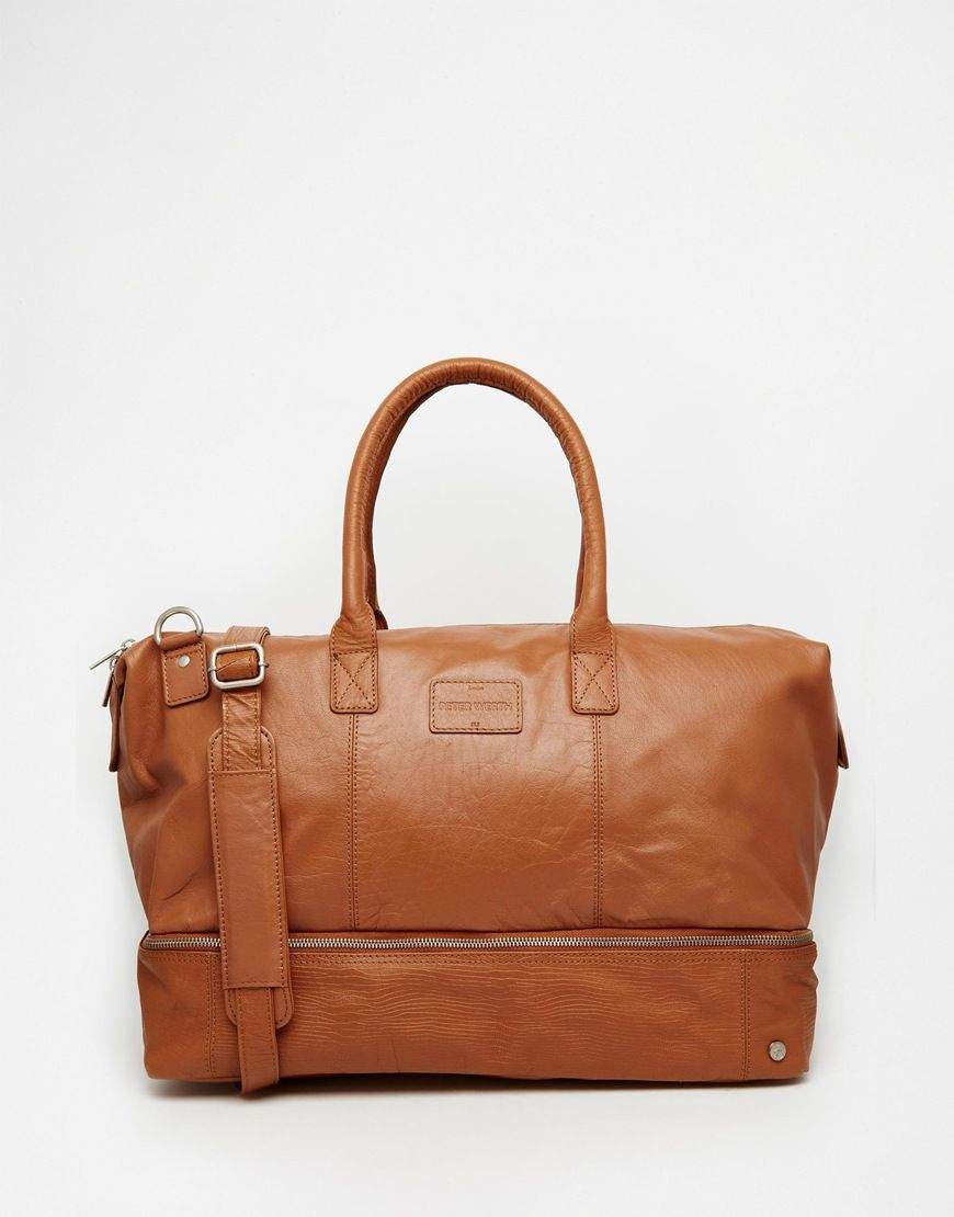 2b67c288a Peter Werth Leather Holdall In Tan