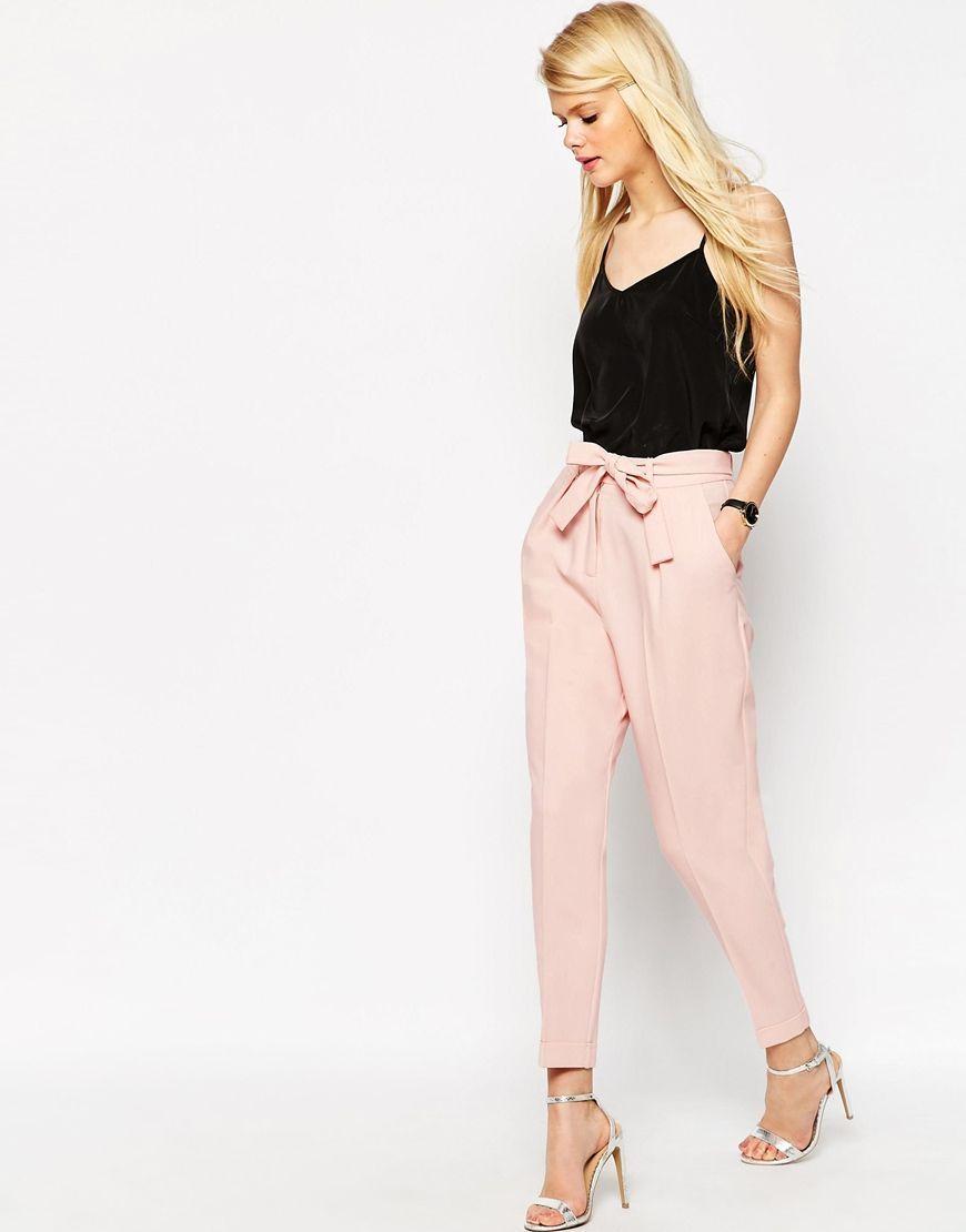 Resultado de imagen de pantalon pinzas rosa palo  fa72c726d239