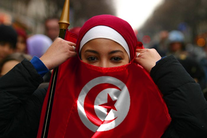 Image result for tunisian flag woman beautiful