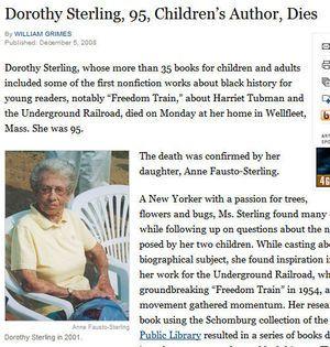 Dorthy Sterling Obituary Children S Author Nonfiction Newspaper Obituaries