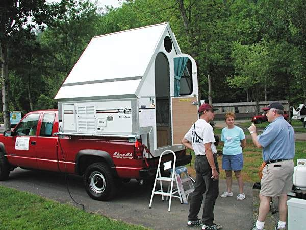 truck campers carrying a cab over import camper performance suspension