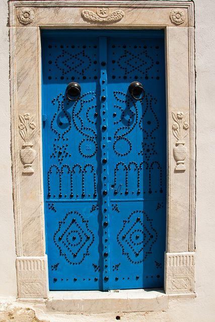 Doors of Sidi Bou Said by khowaga1, via Flickr