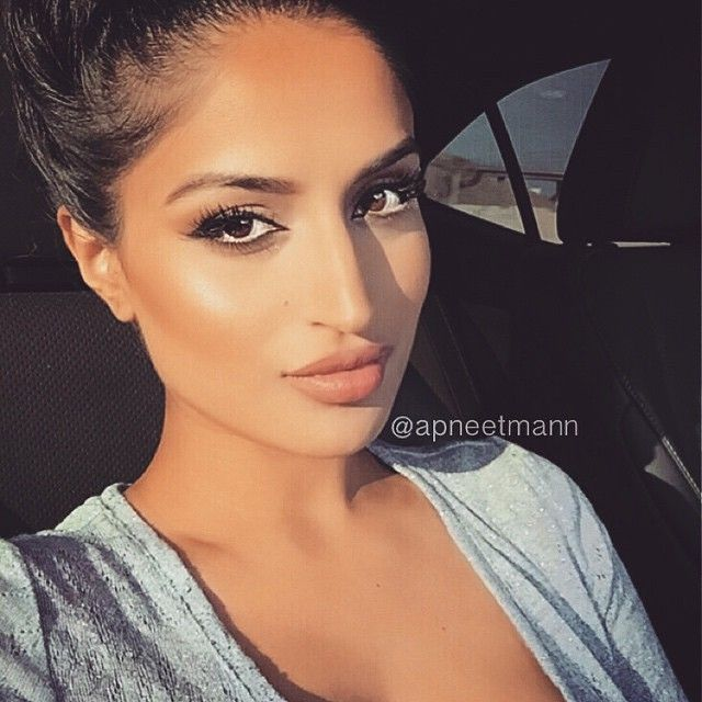 """""""Gorgeous  @apneetmann wearing @LillyLashes in human hair """"Sky High"""" Individuals for a natural lash look! #GhalichiGlam #LillyLashes"""""""