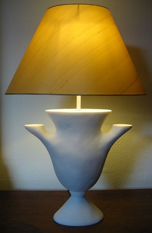 """""""Syrie"""" Plaster table lamp Ian bishop"""