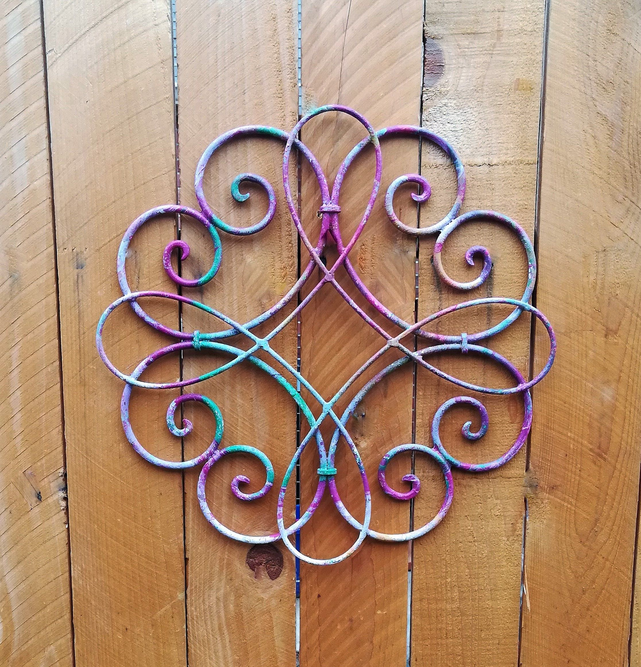Colorful Metal Wall Decor, Metal Wall Hanging, Decorative Wall ...