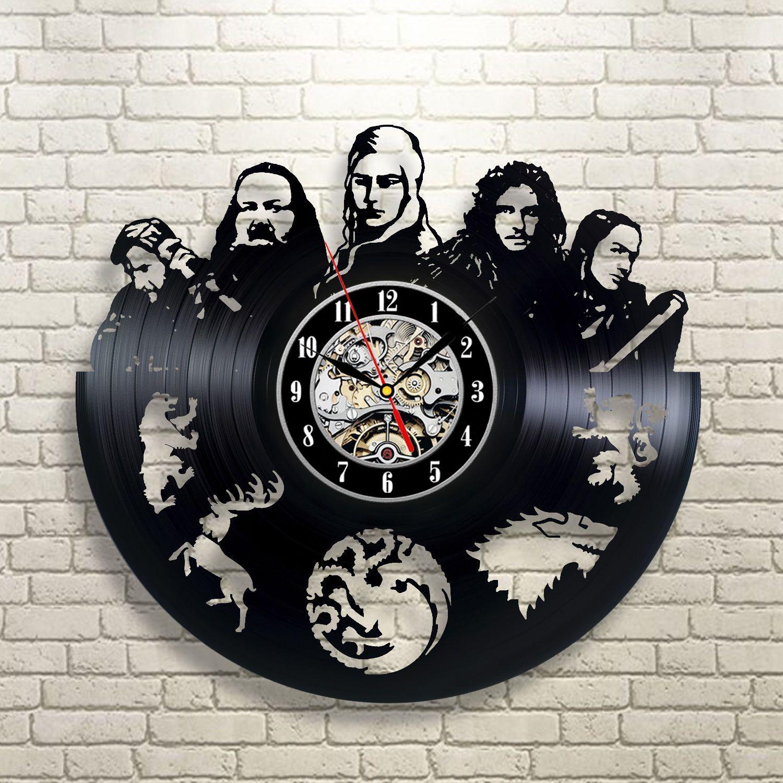Winter Is Coming Wall Art Vinyl Record Clock Decor Home