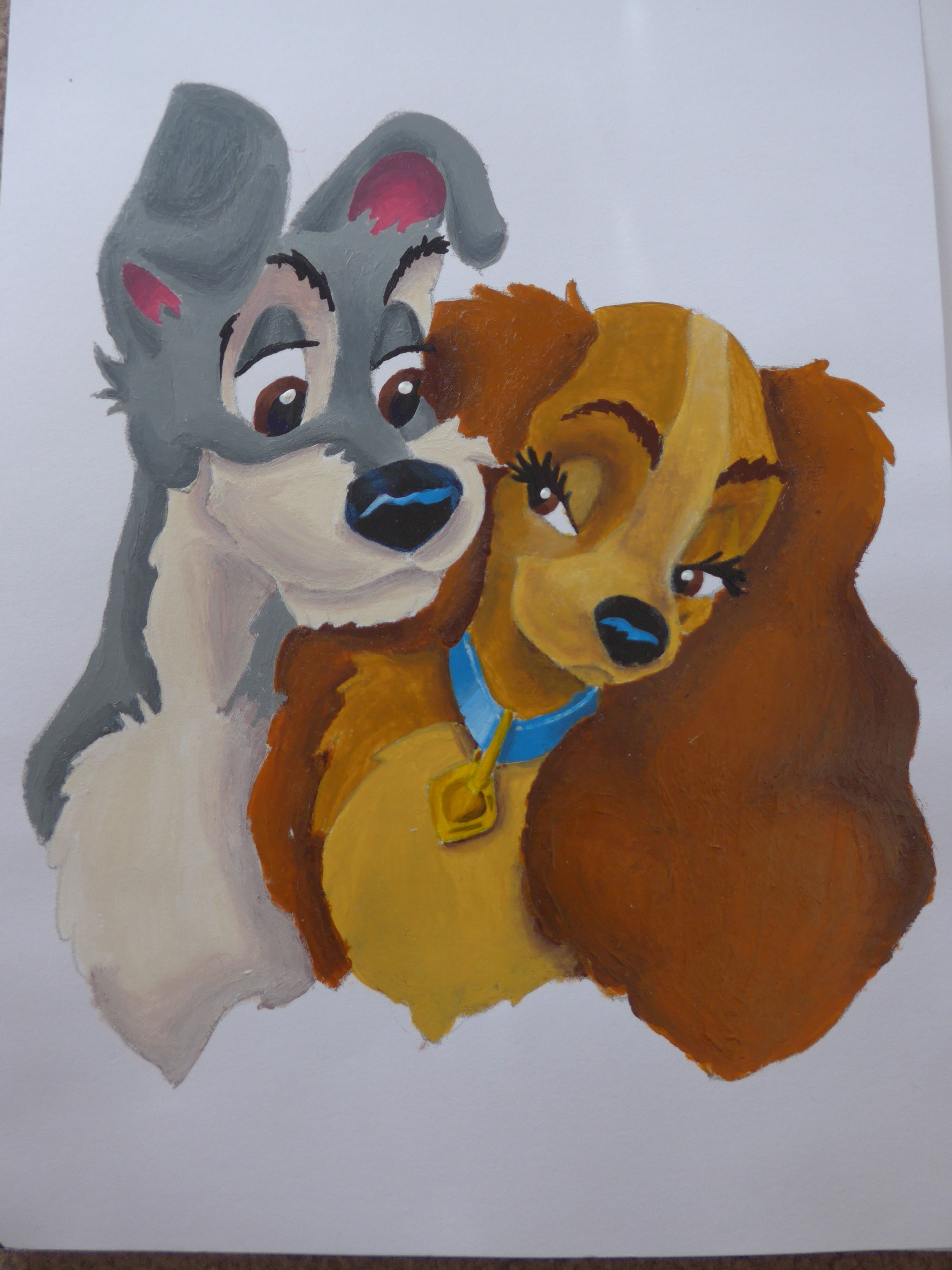 Acrylic Painting Of Disney S Lady And The Tramp Disney Ladies Lady And The Tramp Acrylic Painting